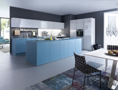 Acqua blue kitchen design